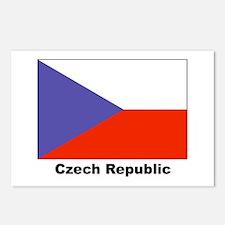 Czech Republic Flag Postcards (Package of 8)