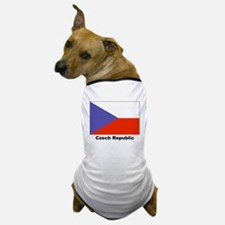 Czech Republic Flag Dog T-Shirt