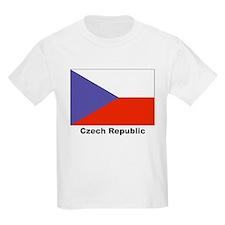 Czech Republic Flag (Front) Kids T-Shirt