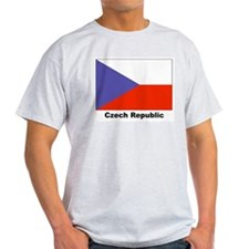 Czech Republic Flag Ash Grey T-Shirt