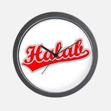 Retro Halab (Red) Wall Clock