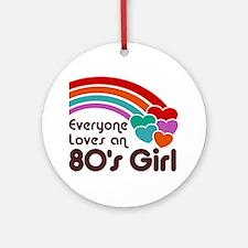 80's Girl Ornament (Round)