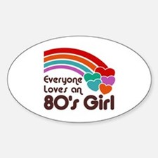 80's Girl Oval Decal