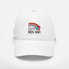 80's Girl Baseball Baseball Cap
