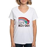 I love the 80s Womens V-Neck T-shirts