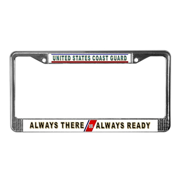 Coast Guard License Plate Frame By Psychochic