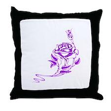 Cute Purple rose Throw Pillow