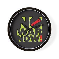 No War Now! Wall Clock