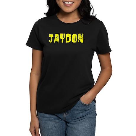 Jaydon Faded (Gold) Women's Dark T-Shirt