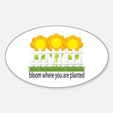 Garden Blooms Oval Decal