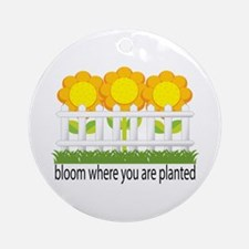Garden Blooms Ornament (Round)