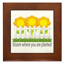 Garden Blooms Framed Tile