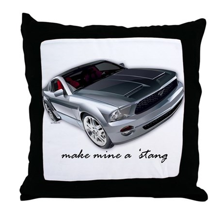 """make mine a 'stang"" Throw Pillow"