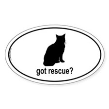 Got Rescue? Oval Decal