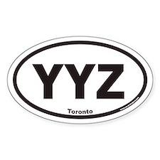 YYZ Toronto Canada Airport Code Euro Oval Bumper Stickers
