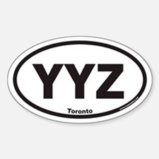 YYZ Toronto Canada Airport Code Euro Oval Decal