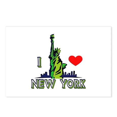...I Love New York... Postcards (Package of 8)
