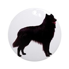 Black Belgian Shepherd Ornament (Round)