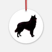 Black Belgian Shepherd Ornament (Round)