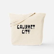 Calumet City Faded (Black) Tote Bag