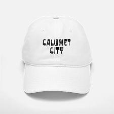 Calumet City Faded (Black) Baseball Baseball Cap