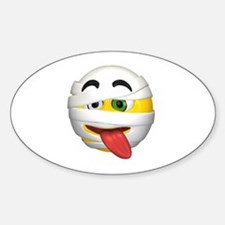 Goofy Mummy Licking Face Oval Decal