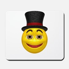 Top Hat Happy Face Mousepad