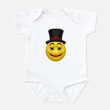 Top Hat Happy Face Infant Bodysuit