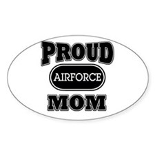 Proud Airforce Mom Oval Decal