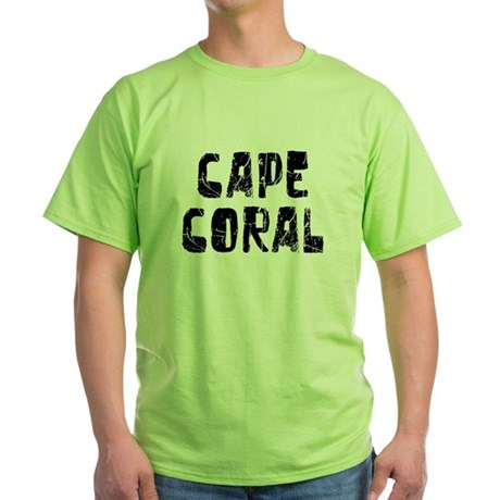 Cape coral faded black green t shirt cape coral faded for Faded color t shirts