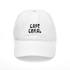 Baseball Cape Coral Faded (Black) Baseball Cap