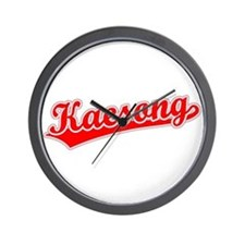 Retro Kaesong (Red) Wall Clock