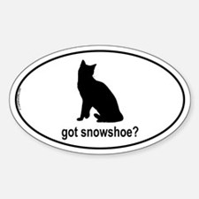 Got Snowshoe? Oval Decal