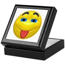 Cute Tongue Out Face Keepsake Box