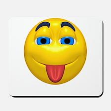 Cute Tongue Out Face Mousepad