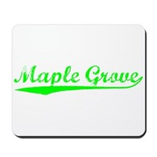 Vintage Maple Grove (Green) Mousepad