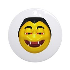 Laughing Vampire Face Ornament (Round)