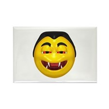 Laughing Vampire Face Rectangle Magnet