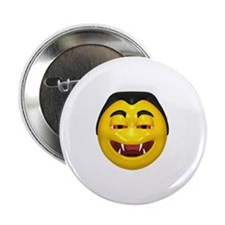 "Laughing Vampire Face 2.25"" Button"