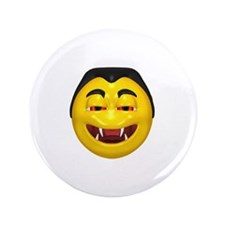 """Laughing Vampire Face 3.5"""" Button"""