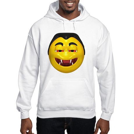 Laughing Vampire Face Hooded Sweatshirt