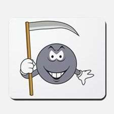 Grey Grim Reaper Smiley Face Mousepad