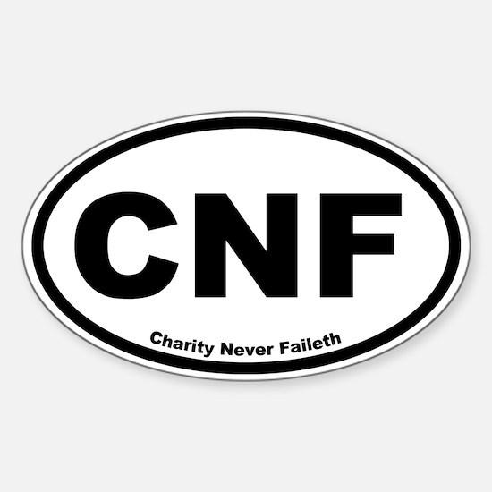 Charity Never Faileth Oval Decal
