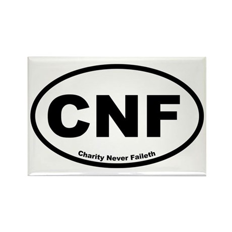 Charity Never Faileth Rectangle Magnet