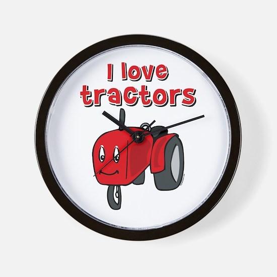 I Love Tractors Wall Clock