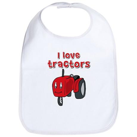 I Love Tractors Bib