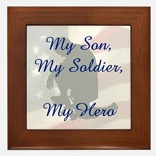 My Son, My Hero Framed Tile