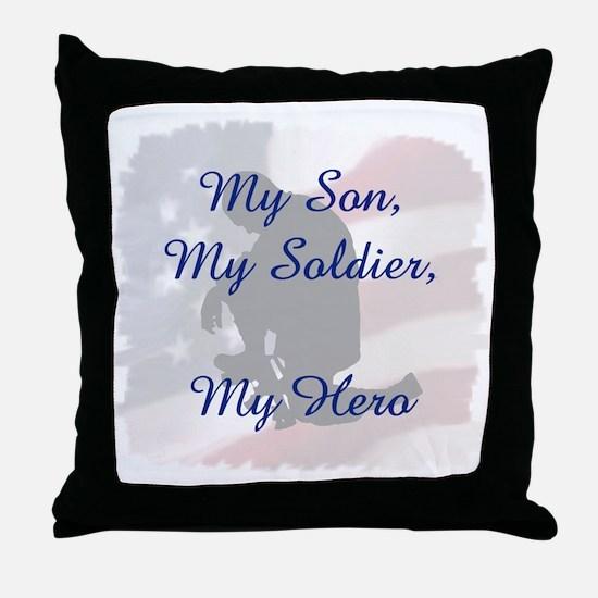 My Son, My Hero Throw Pillow