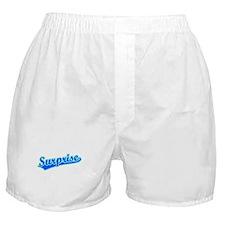 Retro Surprise (Blue) Boxer Shorts