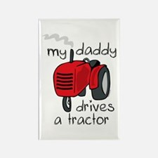 Daddy Drives A Tractor Rectangle Magnet